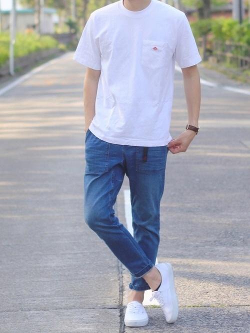 2018年・メンズの夏ファッション Tシャツ×デニム×スニーカー